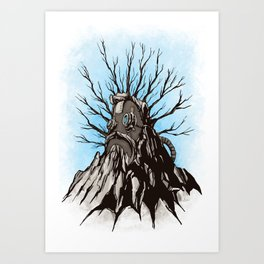 The Wise Mountain Art Print