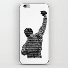 How Hard You Get Hit - Rocky Balboa iPhone Skin