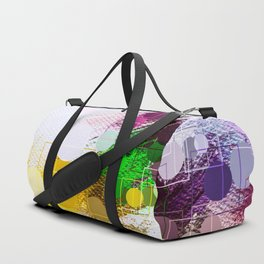 Happy Color Geometrical Pattern Abstract Duffle Bag