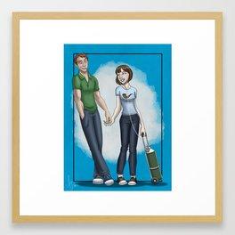 Hazel Grace and Mister Waters Framed Art Print