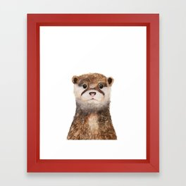 Little Otter Framed Art Print