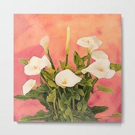 Monterey Calla Lilies Metal Print
