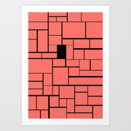 Bricks 002 Art Print