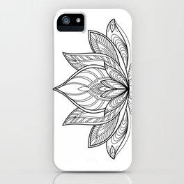 Lotus Line Drawing iPhone Case