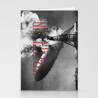 led zeppelin Stationery Cards featuring Zeppelin by Blaz Rojs