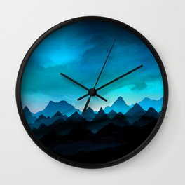Night Storm In The Mountains Wall Clock