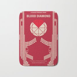 No833 My Blood Diamond minimal movie poster Bath Mat