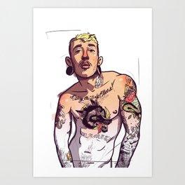 Viktor Belmont Trans Tattoo Art Print
