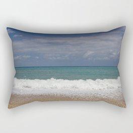 Beautiful colorful sea with waves near Albir with cloudy sky Rectangular Pillow
