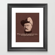 When You're At the End Framed Art Print