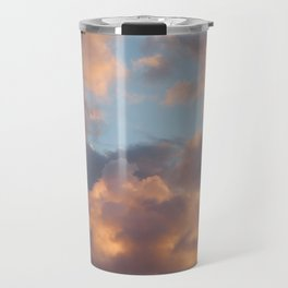Peach Clouds Travel Mug