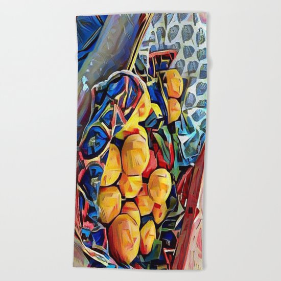 LEMON ZEST Beach Towel