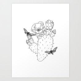 Cactus Cicada Art Print