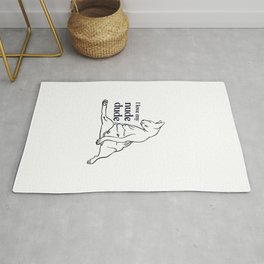 I love my nude dude - Sphynx cat lovers gift - hairless wrinkly kitty - chubby kitten line art- animal black and white Rug