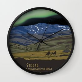 Vintage poster - Steese Wall Clock