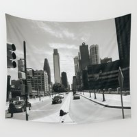 philadelphia Wall Tapestries featuring Philadelphia Street by Erica Torres
