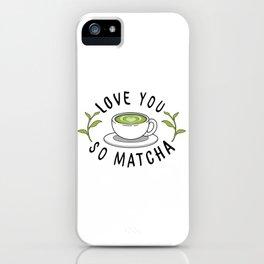 Matcha Love iPhone Case
