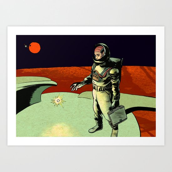 Space Conference Check In  Art Print