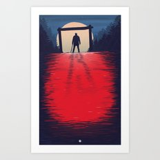 Friday the 13th welcome to camp - alt poster Art Print