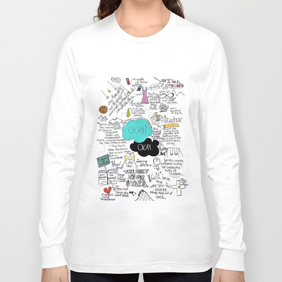 The Fault in Our Stars- John Green Long Sleeve T-shirt