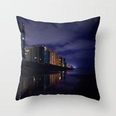 Daytona at Night Throw Pillow