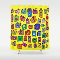 cameras Shower Curtains featuring Cameras by andy_panda_
