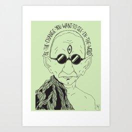 Weekend at Gandhi's Art Print