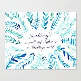 Sanctuary - Inspirational Quote Canvas Print