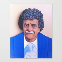 vonnegut Canvas Prints featuring Kurt Vonnegut by Tim Frame