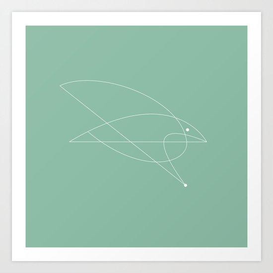 Contours: Hawk (Line) Art Print