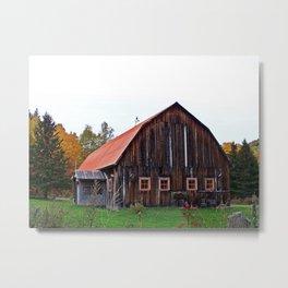 Orange Barn Metal Print