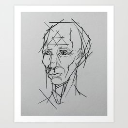 Mr. Linear Art Print