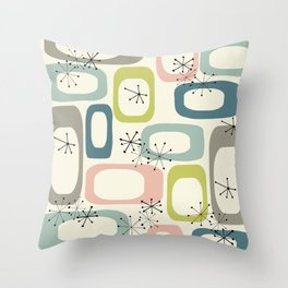 Mid Century Modern Shapes #society6 #buyart Throw Pillow