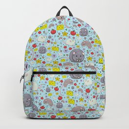 Pretty Rat and Mouse Pattern Backpack