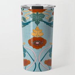 Art Nouveau Ornaments (Pale Blue) Travel Mug