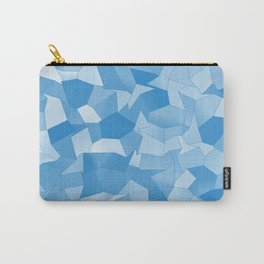 Geometric Shapes Fragments Pattern wb Carry-All Pouch