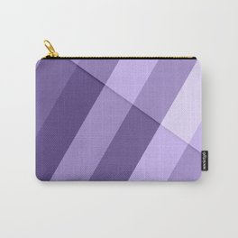 Ultra violet purple modern geometric lines Carry-All Pouch