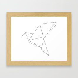 Geometric Bird  Framed Art Print