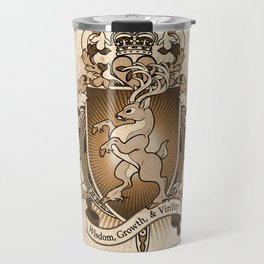 Stag Deer Coat Of Arms Heraldry Travel Mug