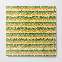 Mosaic Stripes in Citrus Colors Metal Print