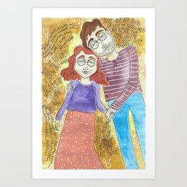 Bookworm Romance Art Print