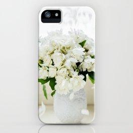 Rosas blancas iPhone Case