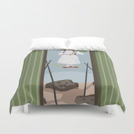 Stretching Desert Duvet Cover