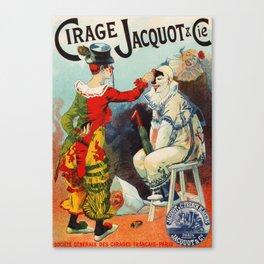 Vintage 1894 French Shoe Polish Ad Canvas Print
