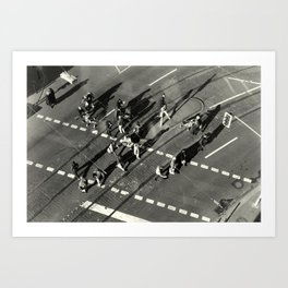 """""""March over intersection"""" Art Print"""