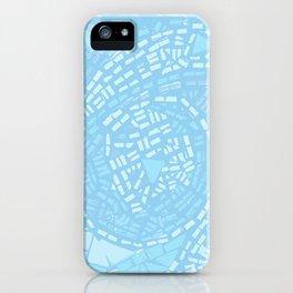 Happy lightful blue Mosaic iPhone Case