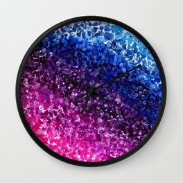 Purple Abstract Painting Wall Clock