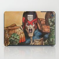 law iPad Cases featuring I AM THE LAW by DeMoose_Art