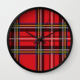 red kilt Wall Clock