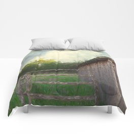 Rustic Summer Barnyard Comforters
